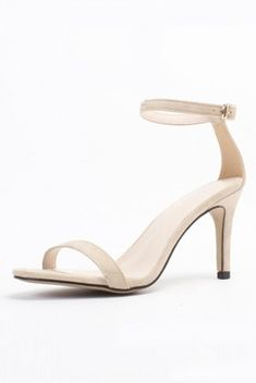 316b5435cc05 Sandale beige écru suédé à talon avec bride de cheville pas cher- Persun.fr