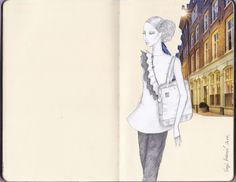 myCloud Tote Beige – Fashion illustration