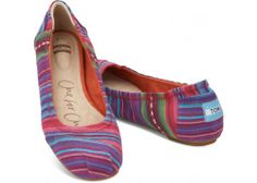 Mixed Woven Stripes Women's Ballet Flats | TOMS.com