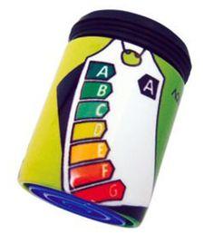 Energieetikette in grün: Durchflussbegrenzer mit Konstanthaltung (5 Liter pro Minute) spart bis zu 50% Wasser und Energie.