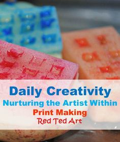 Nurturing the Artist within, a new series of simple projects, activities and games that support the development of creativity!