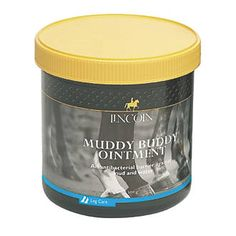 Lincoln Muddy Buddy Ointment 500g 3020G 500g. Powerful, anti-bacterial barrier for horses. Will soothe the affected area and offer an effective protective waterproof barrier. For application to heels and lower legs in wet and muddy conditio http://www.MightGet.com/april-2017-1/lincoln-muddy-buddy-ointment-500g-3020g.asp