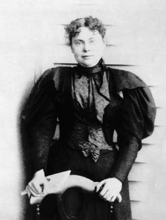 Lizzie Borden,acquitted suspect in the murder of her father and stepmother, 1892