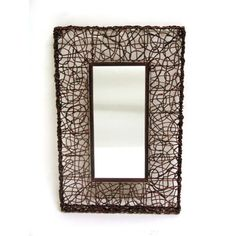 Square Metal And Rattan Mirror Firefly Home Collection Rectangle Mirrors Home Decor