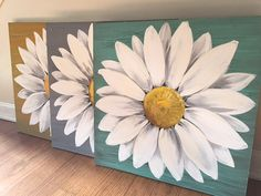 Coffee art painting draw canvases oil on canvas Ideas Cute Canvas Paintings, Flower Painting Canvas, Daisy Painting, Easy Canvas Art, Simple Acrylic Paintings, Diy Canvas, Painting Abstract, Painting Art, Arte Pallet