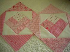 Square-in-Square quilt blocks (heart option) tutorial - Craftsy.com