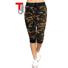 New Camouflage Camo Army Green Print Cropped Capri Legging joggers USA Printed Trousers, Printed Leggings, Tight Leggings, Capri Leggings, Army Print, Oversized Jacket, Green Print, Jogger Pants, Jogging