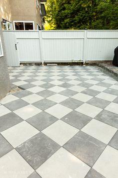 Concrete Pavers, Paint Stripes, Landscape Fabric, Covered Pergola, Outdoor Entertaining, Life Is Beautiful, Backyard, Decks, Basement