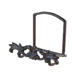 Decorative Cast Iron Motif Plate Stand and Art Holder Easel - 4.5\u0027H x 3.5  sc 1 st  Pinterest & Industrial Style Decorative Plate Stand and Art Holder Easel in ...