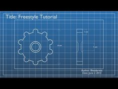 Intro to renderman for blender renderman community 3d in this tutorial you will learn to create a gear blueprint using blender and the new freestyle line system malvernweather Image collections
