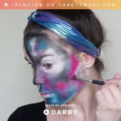 Are you looking for inspiration for your Halloween make-up? Browse around this website for unique Halloween makeup looks. Fx Makeup, Makeup Tips, Makeup Brush, Beauty Makeup, Beauty Tutorials, Beauty Hacks, Galaxy Makeup, Make Up Videos, Diy Videos