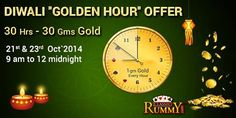 Win Gold every hour with Diwali Golden Hour Offer at #classicrummy.  Know more about the offer at :https://www.classicrummy.com/diwali-golden-hour-offer?link_name=CR-12