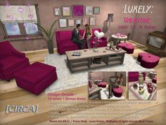 [CIRCA] - Luxely Valentine Living Set - in Fushia | Flickr - Photo Sharing!