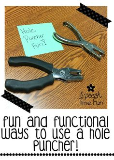 Did you know that there are several ways SLPs can use a hole puncher in their speech therapy rooms? There certainly are! I'm describing a few different engaging ways to use a hole puncher in this blog post, so click through to read about them and download a freebie!