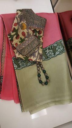 Best 11 Kota Doria in indigo with contrast edging – SkillOfKing. Cotton Saree Blouse, Saree Blouse Neck Designs, Saree Dress, Cutwork Saree, Diana, Stylish Blouse Design, Designer Blouse Patterns, Blouse Models, Indigo