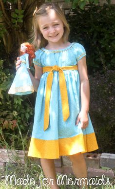 Brave Merida Dress- Disney Princess. $40.00, via Etsy (ideas for me to DIY...possibly to incorporate a tutu?