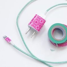 Add some color to your life with these fun Japanese washi tape ideas! Washi Tape Crafts, Masking Tape, Headphones, Unique, Arts And Crafts, Electronics, Toys R Us, Charger, Duct Tape