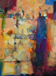 "Bob Burridge, artist, ""Lots of Many Things"", 36x48, acrylic & combined media on canvas"