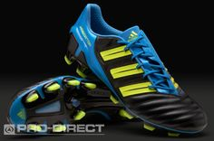 adidas Football Boots - adidas adipower Predator TRX FG - Firm Ground - Soccer Cleats - Black-Electricity-Blue