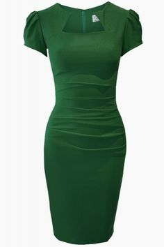 This is a full commitment to green, one has to be prepared for that to wear this -- Gorgeous Green Dress...every lady should have one green piece in their closet