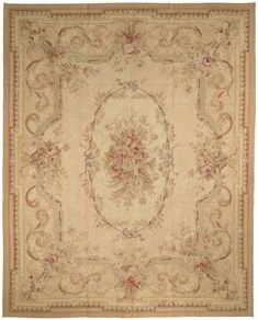 In.Love. with this rug. *sigh* Rug AU16 - @Safavieh Official Aubusson Rugs - Wool Rugs - Area Rugs