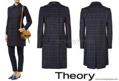 Danish Princess Marie wore Theory Abla Check Double Breasted Coat