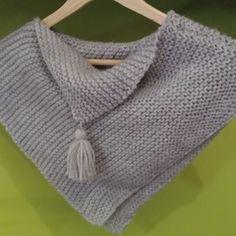 """Poncho en laine """"sur commande"""" modèle fille"""