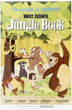 Les affiches des 53  films Disney de 1937 à 2013 1967 The Jungle Book Poster 523x800