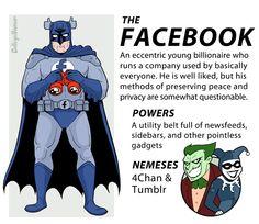 Facebook as a Super Hero :-P