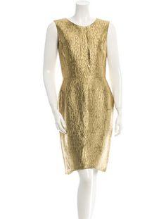 Oscar de la Renta Metallic Dress