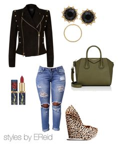 dressy-casual by ebony103186 on Polyvore featuring polyvore fashion style Balmain L.A.M.B. Givenchy Gucci Sevil Designs clothing