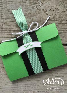 Gift Card Holder Cucumber Stampin365