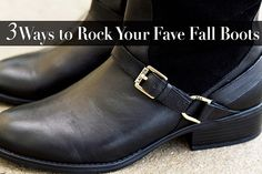 3 Ways to Rock Your Fave Fall Boots featuring @dswshoelovers  | Ariana's StyleBook #DSW #boots #fall