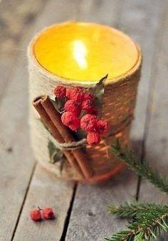 Направи си сам есенен свещник (DIY autumn candle)