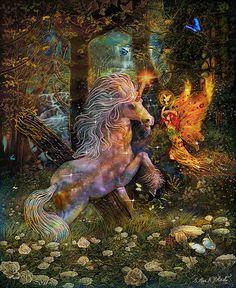 Unicorn King Print By Steve Roberts