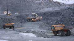 Sydvaranger mining,ATLAS COPCO SMARTROC drillrigg on the left.