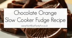 Terry's Chocolate Orange Slow Cooker Fudge Recipe - A Homemade & Edible Christmas Gift Tray Bake Recipes, Fudge Recipes, Edible Christmas Gifts, Christmas Baking, Slow Cooker Fudge, Terry's Chocolate Orange, Homemade Food Gifts, Tray Bakes, No Cook Meals