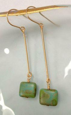 Earring dangle Czech Glass Bead hangs from by JLynJewelryDesigns, $20.00