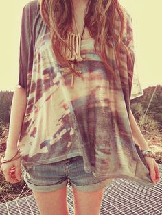 long, flowy shirts are great