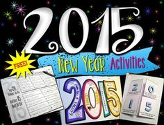 Free: 2015 New Year Goal Setting and Creative Writing Activities