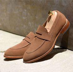 77079ee005d67c Handmade Beige Color Loafer Shoes