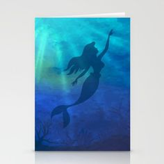 Magical Jeweltone Mermaid Silhouette Illustration Stationery Cards by sandyrichter Silhouette S, Mermaid Silhouette, Jewel Tones, Stationery, Batman, Framed Prints, Superhero, Illustration, Cards