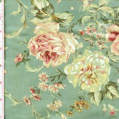 Floral Collection Antique Rose by Lecien Fabrics ~ Follow this pin to see the entire collection at the Fabric Shack!