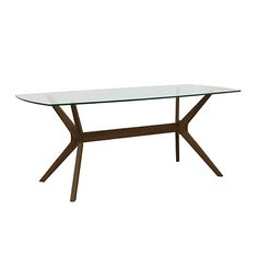 Milano Glass Dining Table in Walnut -life interiors