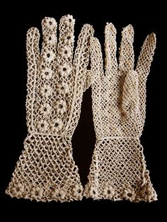 N.045 ミルフルール / クロシェ アンティークレース手袋 : パァジュ ド マリールイーズ アンティークジュエリー オブジェ パリ フランス