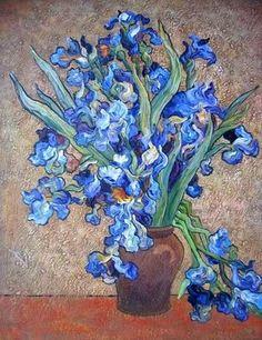 Van Gogh oil painting. LOVE the blue!