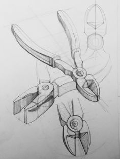 sketches by cristiana costin, via Behance Basic Sketching, Basic Drawing, Technical Drawing, Structural Drawing, Architecture Drawing Sketchbooks, Isometric Drawing, Observational Drawing, Object Drawing, Perspective Art