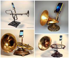 Quiero uno de estos parlantes!! Steampunk look!!!