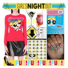 """""""Powerpuff Girl's Night Out"""" by yours-styling-best-friend ❤ liked on Polyvore featuring Belleza, Eva Solo, Love Moschino, Moschino y HOT SOX"""