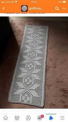 Crochet Table Mat, Crochet Table Runner Pattern, Crochet Edging Patterns, Crochet Stitches, Filet Crochet, Crochet Doilies, Crochet Flowers, Micro Macrame Tutorial, Crochet Carpet